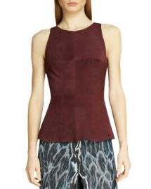 HALSTON HERITAGE HALSTON Sleeveless Suede Top Women - Bloomingdale s at Bloomingdales