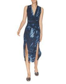 HALSTON HERITAGE Printed Double-Slit Dress at Bloomingdales