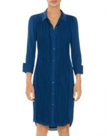 HALSTON Long Sleeve Pleated Shirt Dress Women - Bloomingdale s at Bloomingdales