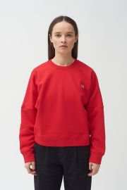 HAND EMBROIDERED RED SWEATSHIRT at Colovos