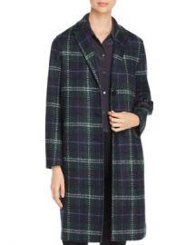 HARRIS WHARF Pressed Tartan Virgin Wool Overcoat  Women - Bloomingdale s at Bloomingdales