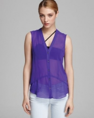 HELMUT Helmut Lang Blouse - Ghost Silk Button Down at Bloomingdales