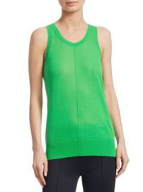 HELMUT LANG - SHEER V-NECK TANK at Saks Fifth Avenue