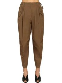 HIGH WAIST COTTON CANVAS CARGO PANTS at Luisaviaroma