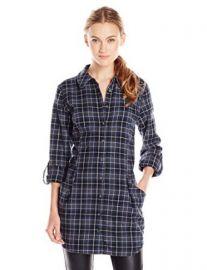 HL Key Womenand39s Ethel Plaid Flannel Tunic Shirt at Amazon