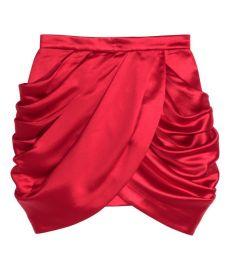 HM x Balmain Red Skirt at H&M