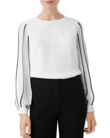 HOBBS LONDON Aisha Blouson-Sleeve Top   Women - Bloomingdale s at Bloomingdales