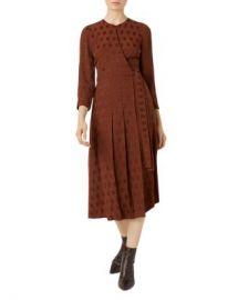 HOBBS LONDON Hazel Pleated Jacquard Wrap Dress  Women - Bloomingdale s at Bloomingdales