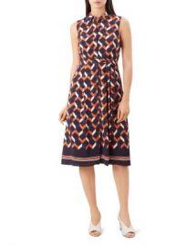 HOBBS LONDON Suzanna Geometric Print Shirt Dress  Women - Bloomingdale s at Bloomingdales