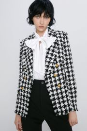 HOUNDSTOOTH JACKET at Zara
