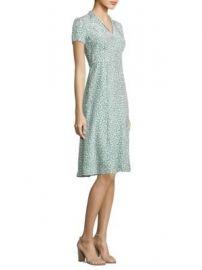 HVN - Morgan Forties Printed Silk Dress at Saks Fifth Avenue
