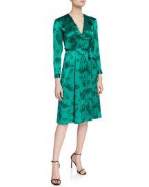 HVN Lauren Button-Down Long-Sleeve Dress at Neiman Marcus