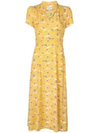 HVN Seagull Print Dress - Farfetch at Farfetch