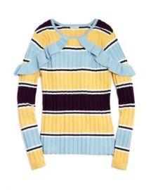 Habitual Kids Girls  x27  Rylee Striped Ruffle-Sleeve Sweater - Big Kid Kids - Bloomingdale s at Bloomingdales
