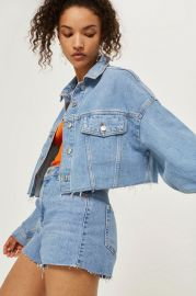 Hacked Off Crop Denim Jacket at Topshop