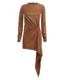Haddasah Faux Leather Mini Dress at Intermix