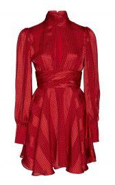 Hadiza High-Necked Printed Silk Mini Dress at Moda Operandi
