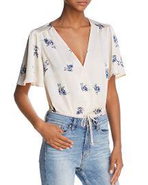 Hadley Floral Print Tie-Waist Bodysuit by ASTR the Label at Bloomingdales