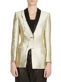 Haider Ackermann - Asymmetric Metallic Jacket at Saks Fifth Avenue