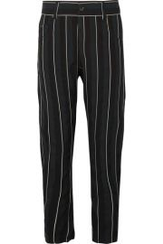 Haider Ackermann   Striped cotton-twill tapered pants at Net A Porter