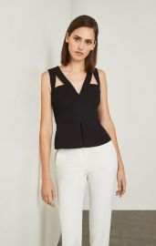 Hailee Cutout Peplum Top at Bcbgmaxazria