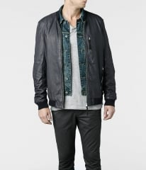 Hakonie leather bomber jacket at All Saints