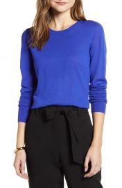 Halogen   Crewneck Merino Wool Blend Sweater   Nordstrom at Nordstrom