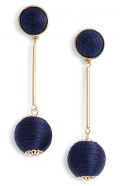 Halogen   Mod Ball Drop Earrings in Navy at Nordstrom