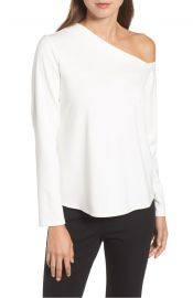 Halogen   One-Shoulder Knit Tee at Nordstrom