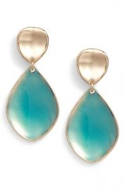 Halogen   Painted Petal Double Drop Earrings at Nordstrom