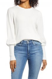 Halogen   Puff Sleeve Sweater   Nordstrom at Nordstrom