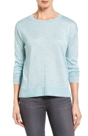 Halogen   Seam Detail High Low Sweater  Regular  amp  Petite    Nordstrom at Nordstrom