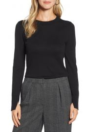 Halogen   Slit Sleeve Sweater  Regular  amp  Petite    Nordstrom at Nordstrom