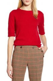 Halogen   x Atlantic-Pacific Elbow-Length Sleeve Sweater  Nordstrom Exclusive    Nordstrom at Nordstrom