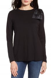 Halogen   Bow Shoulder Ponte Top at Nordstrom