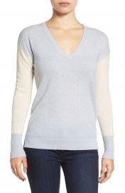 Halogen   Cashmere V-Neck Sweater  Regular   Petite at Nordstrom