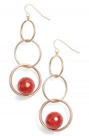 Halogen   Chainlink Stone Drop Earrings at Nordstrom