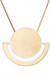 Halogen   Horizon Disc Pendant Necklace at Nordstrom