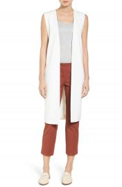 Halogen   Long Twill Vest  Regular   Petite at Nordstrom