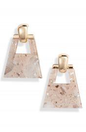 Halogen   Metallic Geo Doorknocker Earrings   Nordstrom at Nordstrom