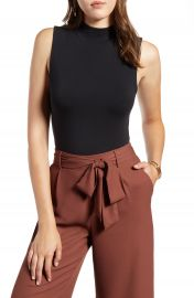 Halogen   Mock Neck Tank Top  Regular  amp  Petite    Nordstrom at Nordstrom