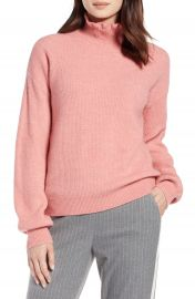 Halogen   Ruffle Neck Sweater  Regular  amp  Petite at Nordstrom