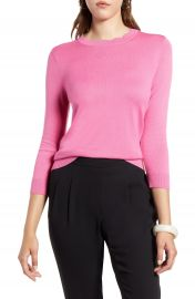 Halogen   Scallop Neck Sweater  Regular  amp  Petite    Nordstrom at Nordstrom