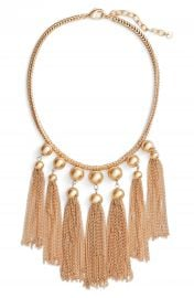Halogen   Sphere Tassel Bib Necklace at Nordstrom