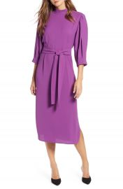Halogen   Tie Waist Dress  Regular  amp  Petite at Nordstrom