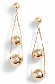 Halogen   Triple Sphere Chain Drop Earrings at Nordstrom