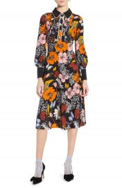 Halogen   x Atlantic-Pacific Floral Print A-Line Dress at Nordstrom