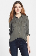 Halogen Chambray Shirt at Nordstrom