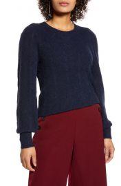 Halogen Chevron Pointelle Sweater at Nordstrom