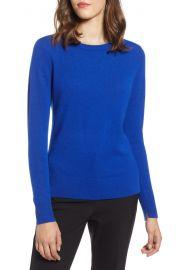 Halogen Crewneck Cashmere Sweater in Blue Mazarine at Nordstrom